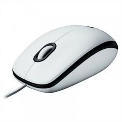 Logitech M100 ratón óptico USB blanco