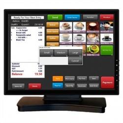 """VivaPos Monitor Táctil 15"""" T1505A Alta+DVI+Usb"""