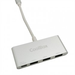 Coolbox HUB USB-C A 3 USB3.0 (A) + POWERDELIVERY