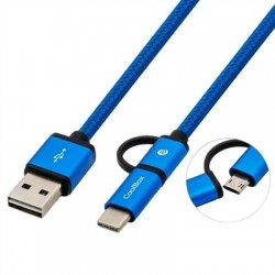 Coolbox Cable MULTIUSB MICRO/C Azul