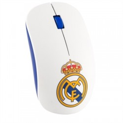 Real Madrid Raton Inalambrico Blanco Escudo Color