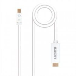 Cable Conversor Mini dp a HDMI blanco 2m
