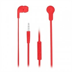 NGS Auriculares metálicos cplano 1.2m Rojo