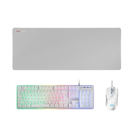 Mars Gaming Combo MCPX GAMING 3IN1 RGB White FR
