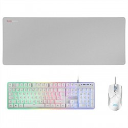 Mars Gaming Combo MCPX GAMING 3IN1 RGB BLANCO