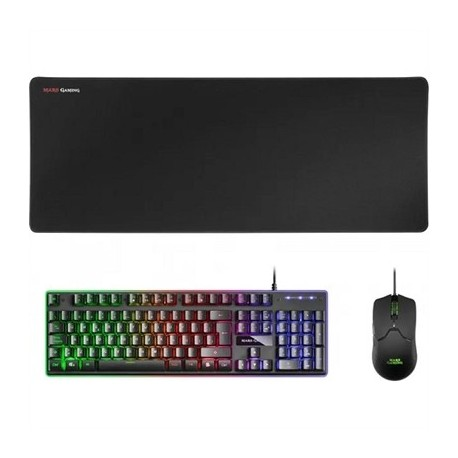 Mars Gaming Combo MCPX GAMING 3IN1 RGB Negro