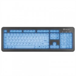 NGS Teclado Multimedia Luminoso BLUELAGOON USB