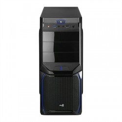 Aerocool Caja Semitorre V3X Advance Black-Blue 3.0