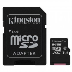 Kingston SDCS/64GB micro SD XC clase 10 64GB