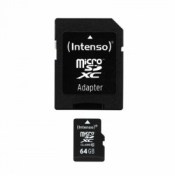 Intenso 3413490 Micro SD clase 10 64GB c/adapt