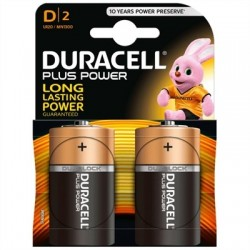 Duracell Plus Power Pila Alcalina D LR20 Blister*2