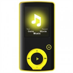 Brigmton Reproductor MP4 BPA-81 8GB Amarillo