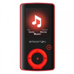 Brigmton Reproductor MP4 BPA-81 8GB Rojo
