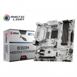 MSI Placa Base B360M MORTAR TITANIUM mATX LGA1151