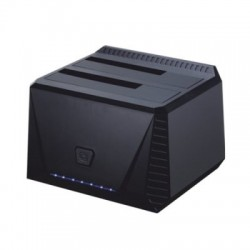 Tooq TQDS-902B Dock Station Doble Bahía HDD Negro
