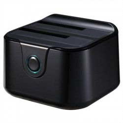Tooq TQDS-802B Dock Station Doble Bahía HDD Negro