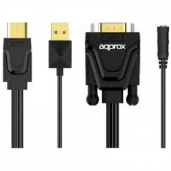 approx APPC22 Adaptador HDMI A VGA + Sonido+ Video